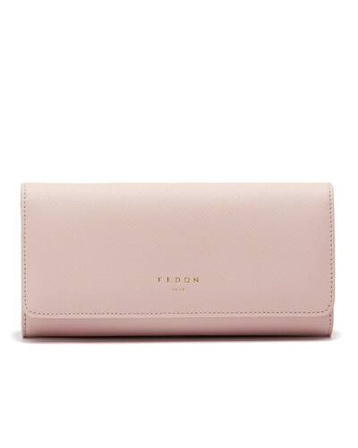 Fedon 1919 - Emily - Large Women's wallet with flap, Pink - WS2010002/ROS
