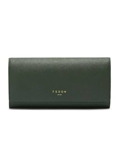 Fedon 1919 - Emily - Large Women's wallet with flap, Green - WS2010002/VE