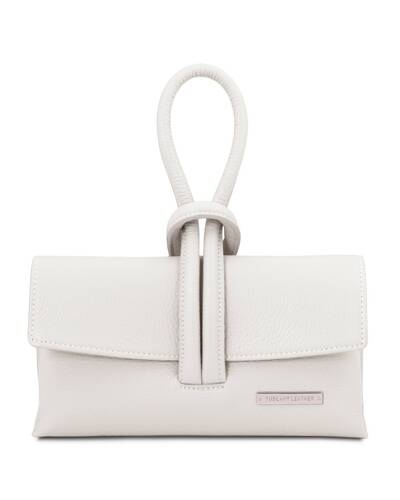 Tuscany Leather TL Bag Leather clutch White - TL141990/11
