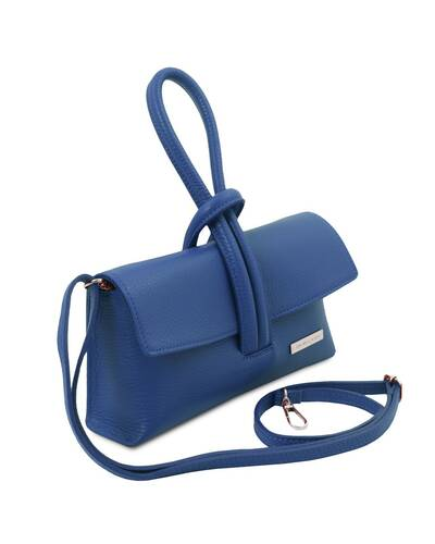 Tuscany Leather TL Bag Pochette in pelle Blu - TL141990/77