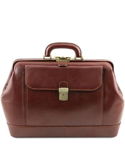 Tuscany Leather - Leonardo - Exclusive leather doctor bag Brown - TL142072/1