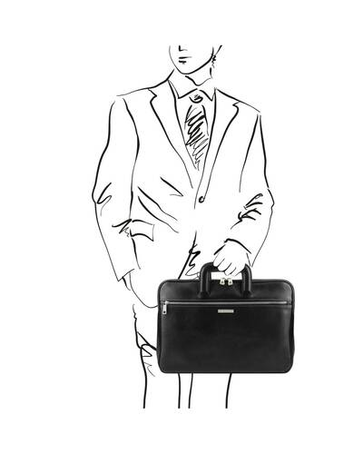Tuscany Leather Caserta - Document Leather briefcase Black - TL142070/2