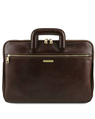 Tuscany Leather Caserta - Document Leather briefcase Dark Brown - TL142070/5