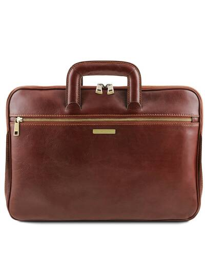 Tuscany Leather Caserta - Document Leather briefcase Brown - TL142070/1