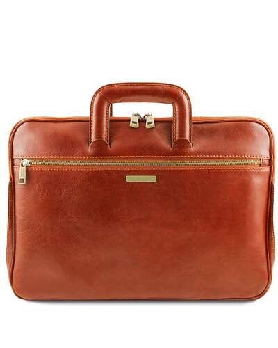 Tuscany Leather Caserta - Document Leather briefcase Honey - TL142070/3