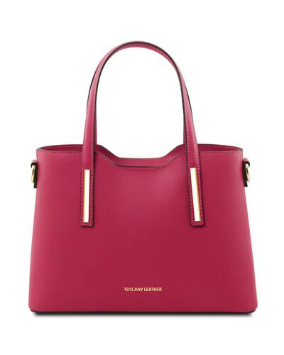 Tuscany Leather Olimpia - Borsa shopper in pelle Ruga - Misura piccola Fucsia - TL141521/75