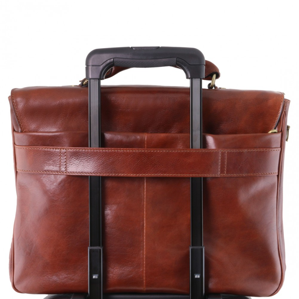 Tuscany Leather Alessandria - Cartella Porta notebook TL SMART multiscomparto in pelle Testa di Moro - TL142067/5