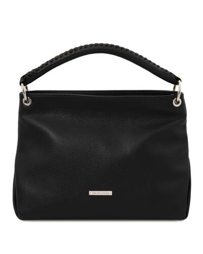 Tuscany Leather TL Bag - Borsa a mano in pelle morbida Nero - TL142087/2