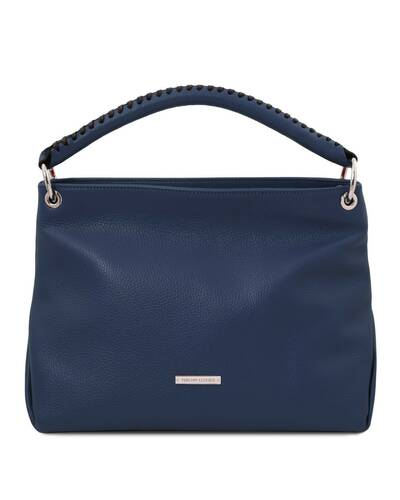 Tuscany Leather TL Bag - Borsa a mano in pelle morbida Blu Scuro - TL142087/107