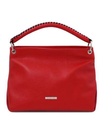 Tuscany Leather TL Bag - Borsa a mano in pelle morbida Rosso Lipstick - TL142087/120