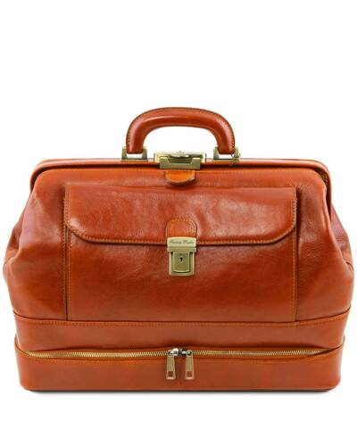 Tuscany Leather Giotto - Exclusive double-bottom leather doctor bag Honey - TL142071/3