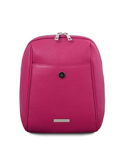 Tuscany Leather TLBag Soft Leather Backpack Fucsia - TL141905/75
