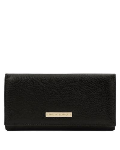 Tuscany Leather Nefti - Exclusive soft leather wallet for women Black - TL142053/2
