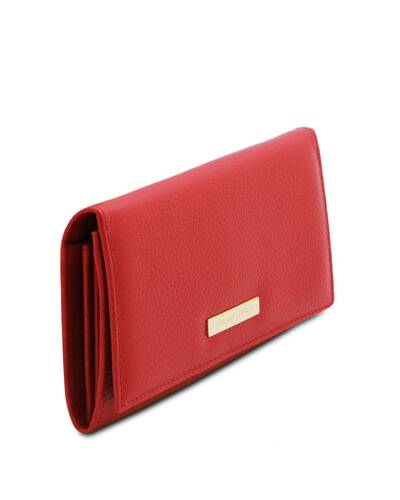 Tuscany Leather Nefti - Exclusive soft leather wallet for women Lipstick Red - TL142053/120