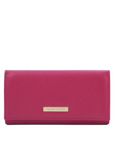 Tuscany Leather Nefti - Exclusive soft leather wallet for women Fucsia - TL142053/75