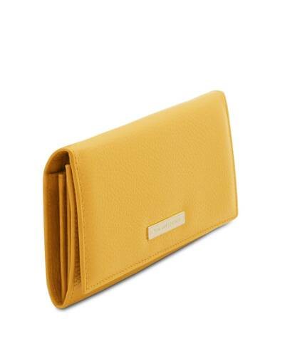 Tuscany Leather Nefti - Exclusive soft leather wallet for women Yellow - TL142053/25