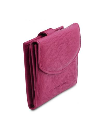 Tuscany Leather Calliope - Exclusive 3 fold leather wallet for women with coin pocket Fuchsia - TL142058/75