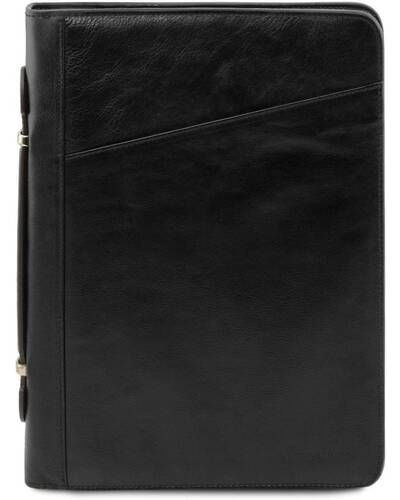 Tuscany Leather Claudio - Exclusive leather document case with handle Black - TL141404/2