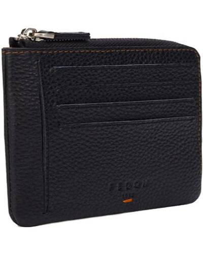 Fedon 1919 - Nelson - Compact men's wallet in leather, Black/Brown - MS1930003/NM