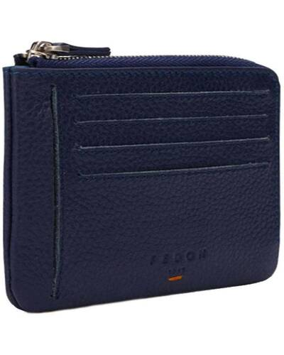 Fedon 1919 - Nelson - Compact men's wallet with 8 card slots, Blue - MS1930003/BLU