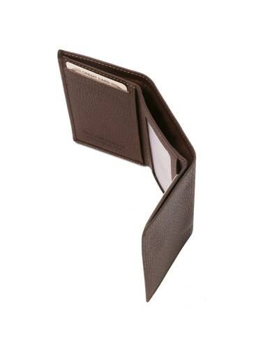 Tuscany Leather - Exclusive soft 3 fold leather wallet Dark Brown - TL142086/5