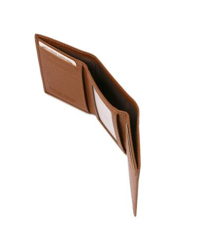 Tuscany Leather - Exclusive soft 3 fold leather wallet Cognac - TL142086/6