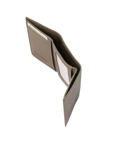 Tuscany Leather - Exclusive soft 3 fold leather wallet Dark Taupe - TL142086/97