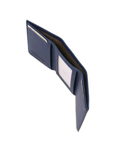 Tuscany Leather - Exclusive soft 3 fold leather wallet Dark Blue - TL142086/107
