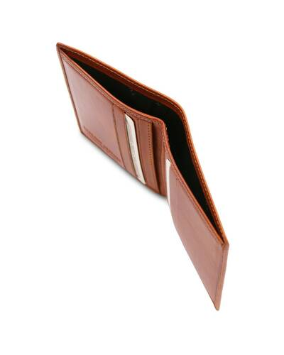 Tuscany Leather - Exclusive 2 fold leather wallet for men Honey - TL142064/3