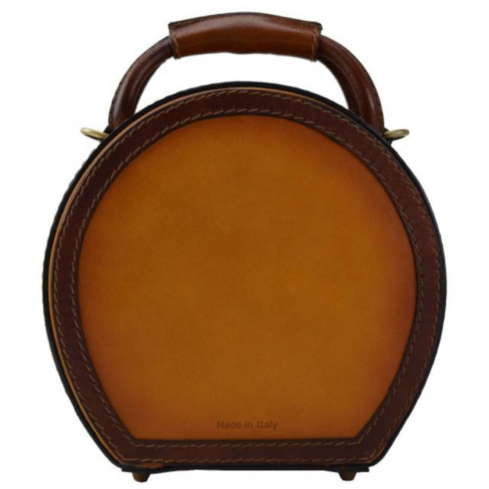 Pratesi Cappello Borsa a tracolla portacappello (small) - B400/23 Bruce Cognac