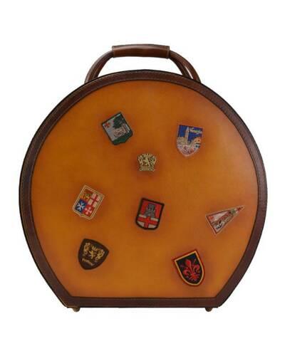 Pratesi Cappello Hat box (large) - B400 Bruce Cognac