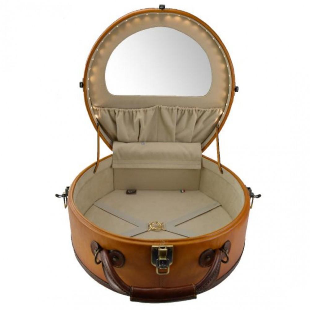 Pratesi Cappello Borsa a tracolla portacappello (large) - B400 Bruce Cognac