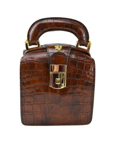 Pratesi Brunelleschi borsa da donna in vera pelle - K120/L King Marrone