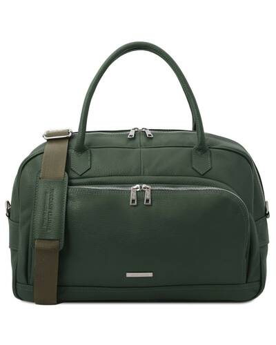 Tuscany Leather TL Voyager - Travel soft leather duffle bag Forest Green - TL142148/62