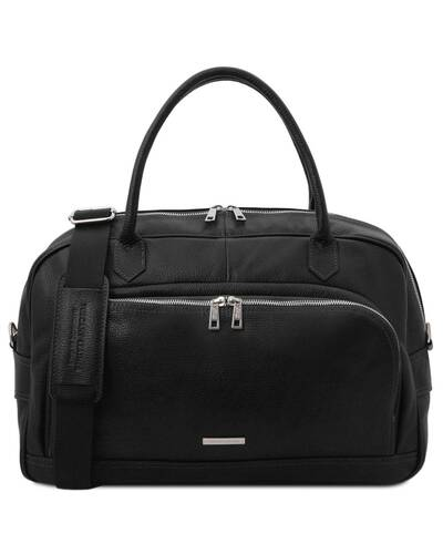 Tuscany Leather TL Voyager - Travel soft leather duffle bag Black - TL142148/2