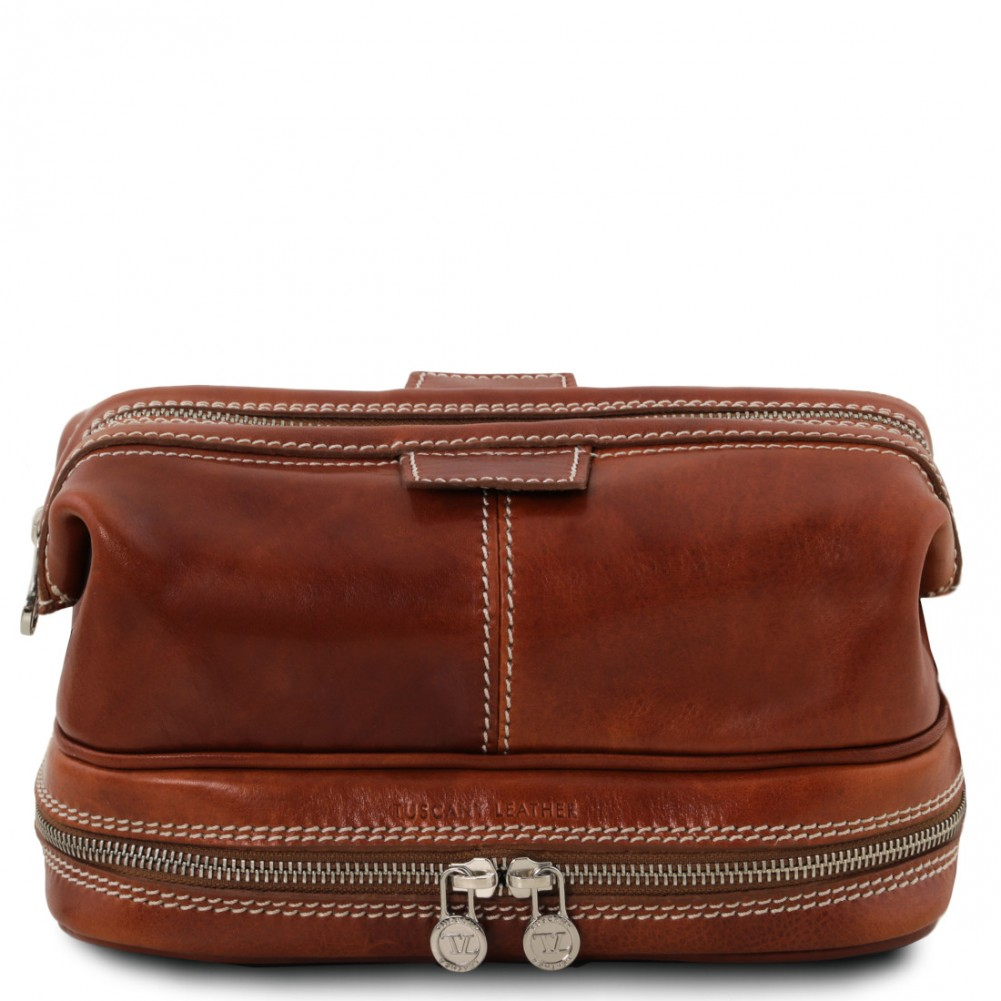 Tuscany Leather Patrick Beauty case in pelle Miele - TL141717/3