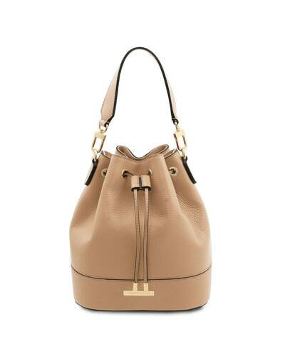 Tuscany Leather TLBag - Leather bucket bag Champagne - TL142146/126