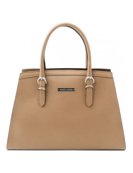 Tuscany Leather TL Bag - Borsa a mano in pelle Champagne - TL142147/126