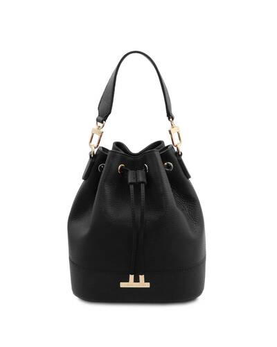 Tuscany Leather TLBag - Leather bucket bag Black - TL142146/2