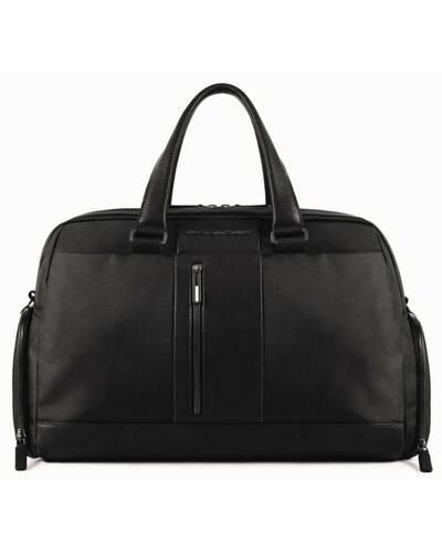 Piquadro Travel bag in recycled fabric, Black - BV680BRE/N