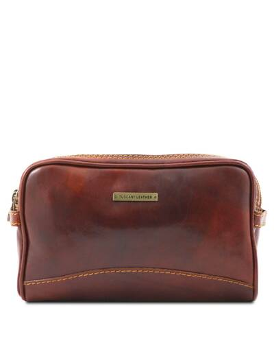 Tuscany Leather - Igor - Leather toilet bag Brown - TL140850/1