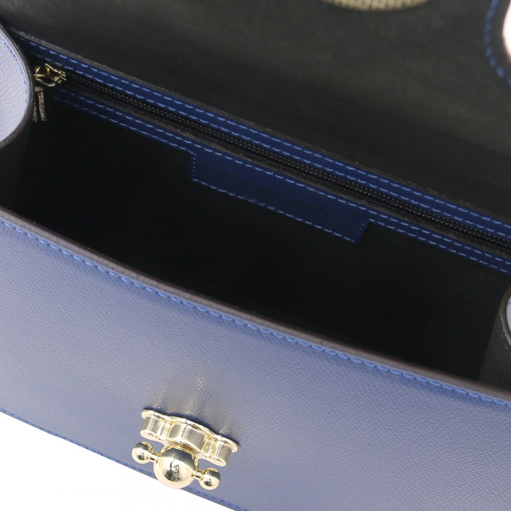 Tuscany Leather TLBag - Borsa a mano in pelle Blu Scuro - TL142078/107