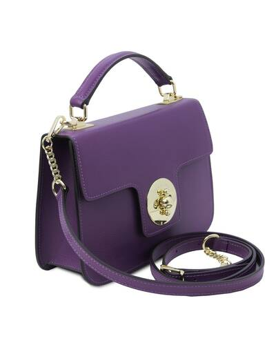 Tuscany Leather TLBag - Borsa a mano in pelle Viola - TL142078/59