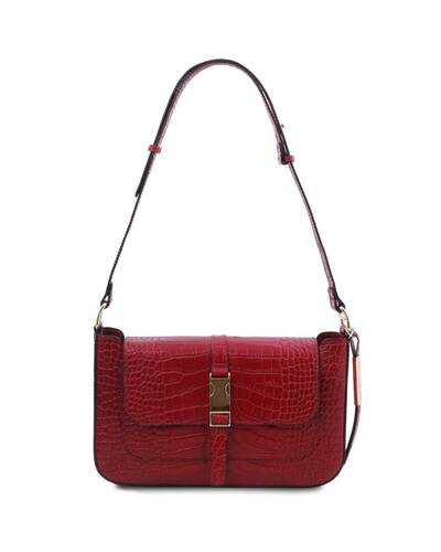 Tuscany Leather Noemi - Pochette in pelle stampa cocco Rosso - TL142065/4