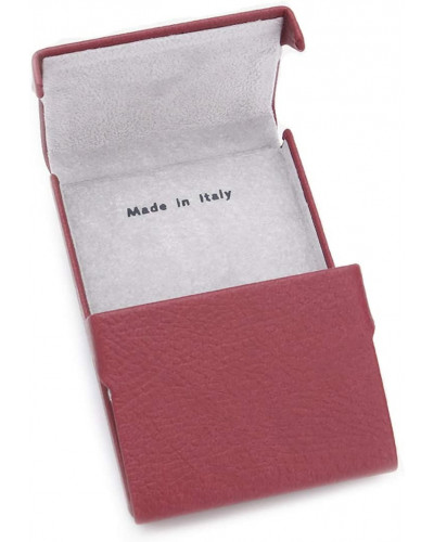 Fedon 1919 - Charme - Rigid Leatherette Credit/Business Card Holder, Dark Red - UO1930004/RS