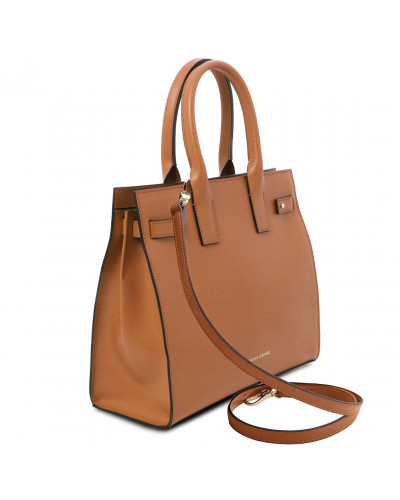 Tuscany Leather - Catherine - Borsa a mano in pelle Cognac - TL141933/6