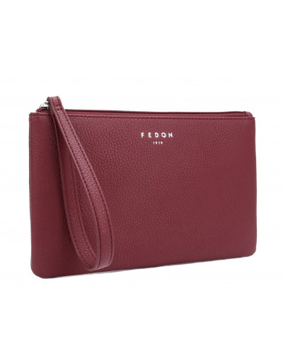 Fedon 1919 - Charme - Multipurpose purse with zip, Dark Red - UA1930008/RS