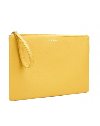 Fedon 1919 - Charme - Multifunctional pochette for documents and Tablet, Yellow - UA1930009/GI