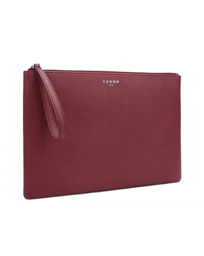 Fedon 1919 - Charme - Multifunctional pochette for documents and Tablet, Dark Red - UA1930009/RS