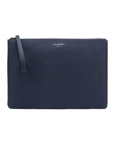 Fedon 1919 - Charme - Multifunctional pochette for documents and Tablet, Blue - UA1930009/BLU
